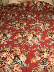 Vintage Ralph Lauren Beach House KING Comforter Floral Southampton Fushia Red ⚘