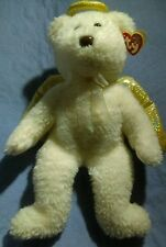Ty Beanie Buddies 2000 Halo II 15in Christmas Angel Bear w/ Iridescent Fur Gold