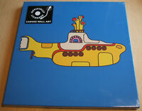 the beatles  yellow submarine  stretch canvas wall art 40cm x 40cm official new