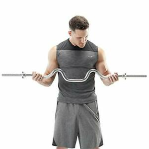 Triceps Biceps Combo Curl Bar For 1-inch Weight Plates Weightlifting Strength