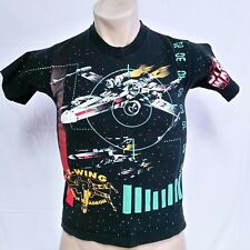 VTG 1997 Star Wars T Shirt All Over Print 90s Space X Wing Tee Movie TV Small