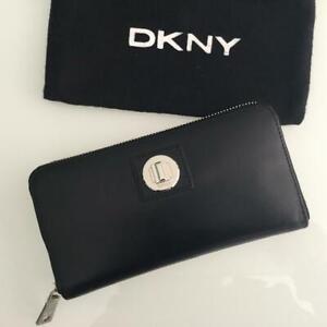 DKNY LADIES  ZIP AROUND WALLET 100% GENUINE LEATHER DONNA KARAN NEW YORK