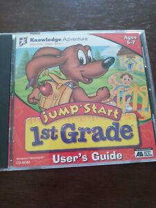 Jump Start 1st Grade Knowledge Adventure CD-ROM Homeschool Educational Learning