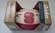 North Carolina State Mario Williams John McCargo Autograph Baden Mini Football