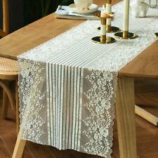 Embroidery Floral Lace Table Runner Delicate Table Runner Doilies Table Cover