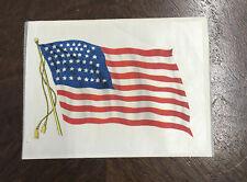 Vintage Cigar Silk United States Flag Cigarette Tobacco Premiums Textiles