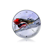 Flying Tiger P-40 Wall Clock - Hand Made in the USA with American Steel