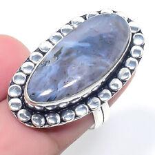 Jewelry Ring Size 7.5 Ark-106 Dendrite Opal Gemstone Handmade Ethnic