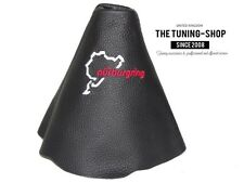 """For Audi TT 2006-14 Gear Gaiter Black Leather """"Nurburgring"""" Embroidery"""