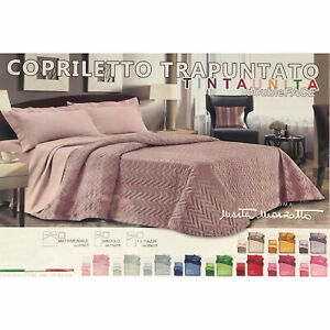 Quilted Bedspread Quilt Double Face Marzotto Snake Microfiber