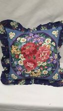 "Roses and Daisys Floral 16"" Throw Pillow"
