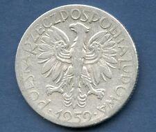 PIECE MONNAIE POLSKA POLOGNE5 zlotyck 1959  EN L'ETAT