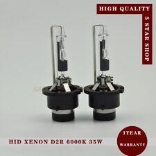 A PAIR 35W D2R Xenon HID Bulbs Globe Replacement Pure White 6000K - METAL FRAME