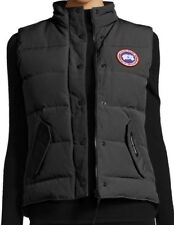 Canada Goose Logo Womens Black Freestyle Slim Fit 650 Fill Down Vest  NWT L $425