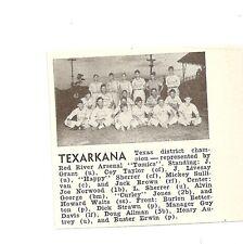 Texarkana Texas Red River Arsenal 1947 Baseball Team Picture