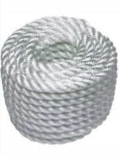 "1/2"" X 20"" FT WHITE NYLON TWISTED ROPE *T4"