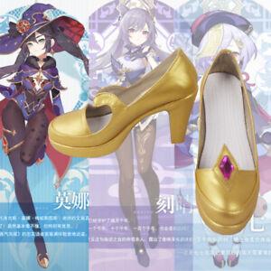 Mona Genshin Impact Auswirkung Cosplay Kostüm Costume Schuhe Shoes Stiefel