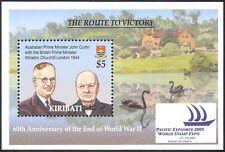 Kiribati 2005 Winston Churchill/guerra/Militar/La Segunda Guerra Mundial/personas/stampex 1 V M/S (n42146)
