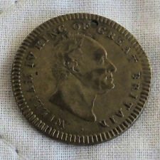1837 DEATH OF WILLIAM IV 24mm BRASS MEDAL