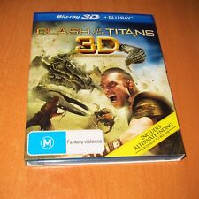 CLASH OF THE TITANS ( BLU-RAY 3D + BLU-RAY ) 2-DISC SET ~ LIKE NEW !