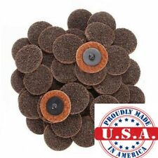 "25Pc 2"" Coarse Roloc Scotch Brite Roll Lock Surface Sanding Disc Made in USA"