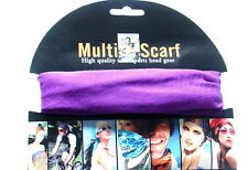 Multi Purpose Magic Scarf Sport Head Band Neck Scarf Head Wear Purple
