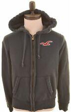 HOLLISTER Mens Hoodie Sweater Small Black Cotton  KZ01
