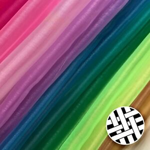 Organza Sheer Fabric 30 Colours (100% Polyester, 150cm) - Sold By the Meter