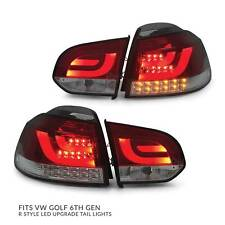 Tail Lights PAIR R Style LED Upgrade fits Volkswagen VW Golf VI 6 09-13