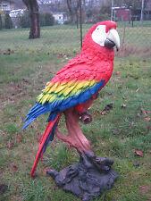 Statuette de jardin Figurine décorative, ara, perroquet à Stamm rouge très grand