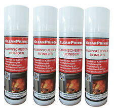 4 Piece Fireplace Cleaner 300 ML Stove Glass Cleaner Fireplace Plate Cleaner