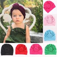 Cute Newborn Toddler Baby Kids Boy Girl Turban Cotton Beanie Hat Winter Warm Cap