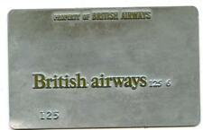 vintage BRITISH AIRWAYS AIRLINES TICKET Validation metal Plate rare