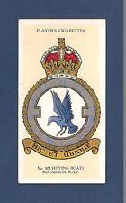 201 SQUADRON RAF FLYING BOAT Formed Gosport 1914 as RNAS Squadron 1 1937 card