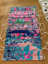 NEW Lilly Pulitzer Face Masks Various Lilly Prints Set of 6
