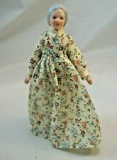 "Porcelain 6/"" Doll Victorian Mother Woman G7653-1//12 scale bendable miniature"