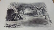Gravure guerre de 1914-1918, WW1, par Jeanniot, numérotée 269/400, signée. 1915