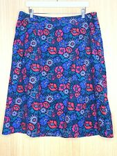 Seasalt Ladies Skirt 16 Pomander Pockets Needlecord Cord Winter Floral Casual