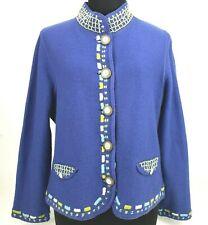 Icelandic Design Women's Sweater Jacket Size Small Boiled Wool Unlined