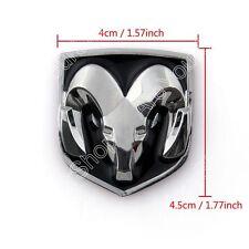 BLK Head Grill Tailgate Emblem Badge Sticker Decal Chromed Metal For Dodge Ram B