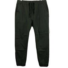 Italy Morn Men's Elastic Waistband Chino Jogger Pants Size XL Army Green