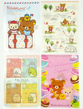 San-X Rilakkuma Charactor Plastic A4 File Folder - 4 Assorted Color - F (24c44)