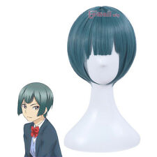 USA Ship Kiss Him Not Me Shima Nishina Blue Green Short Hair Anime Cosplay Wigs