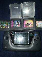 Sega Game Gear Handheld Console (Works) - Black with 5 games