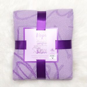 Disney Parks Throw Blanket Purple Fringe Minnie Mouse Cozy Gift New