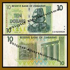 Zimbabwe 10 Dollars, 2007 P-67 Replacement (ZA) Circulated