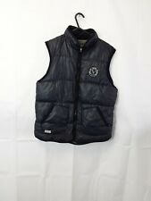 Boys Quilted  Gilet Size 14 Year Olds Navy Zip Up