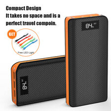 300000mAh Portable Power Bank 3USB LCD External Battery Charger for Cell Phone