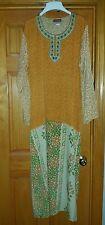 VINTAGE RESHMA FASHIONS RUST FLORAL MUUMUU MOMO FLOWY DRESS ETHNIC MAXI L XL