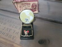 Vintage 1950's Mouse Trap Flip Perpetual Date World Globe Calendar